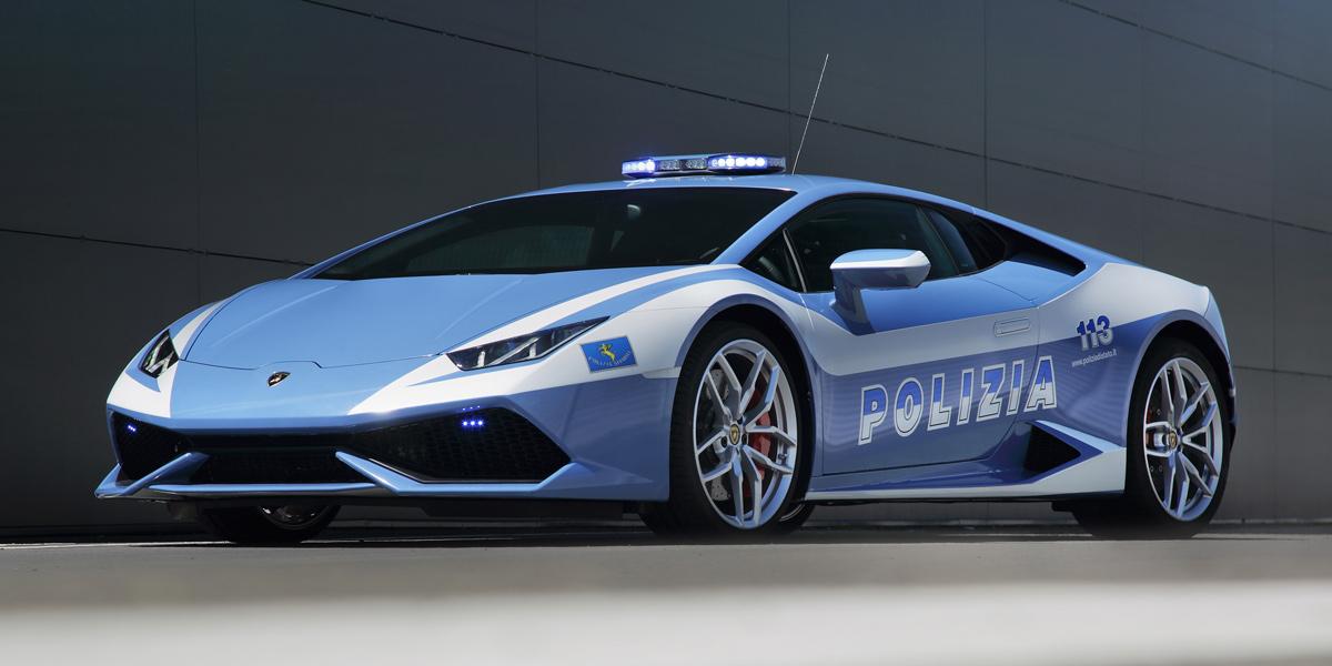 La nueva Lamborghini de la policia italiana